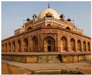 The tomb of the Mughal Emperor Humayun in Delhi was commissioned by his first wife, Bega Begum, in 1569.