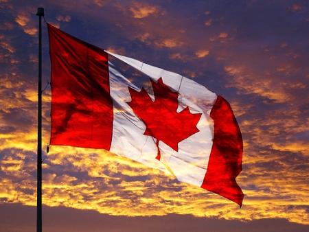 CanadaFlagSunset