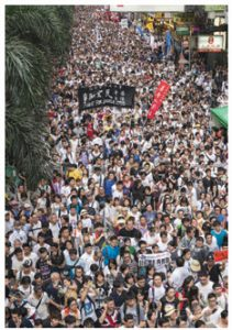 More than half a million people joined the street protests against China's selection of Hong Kong's political candidates in Hong Kong in July.