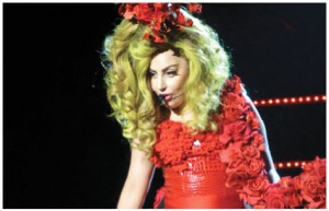 Lady Gaga performed in Taichung to a worldwide internet audience of 30 million fans.