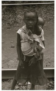 Zimbabwe 2013: It's not uncommon to see children on their own, looking after even younger children.