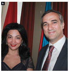 Outgoing Azerbaijani Ambassador Farid Shafijev and his wife, Ulkar Shafijeva, hosted a national day reception at the Westin Hotel. (Photo: Ulle Baum)