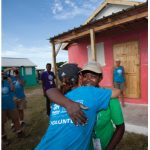 Volunteers and workers built hundreds of homes for Haitians under the auspices of the Jimmy & Rosalynn Carter Work Project at the Santo development in Leogane, Haiti.
