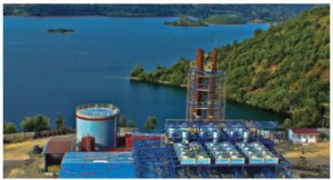This methane gas extraction plant is situated on the shores of Lake Kivu, in a western province of Rwanda.