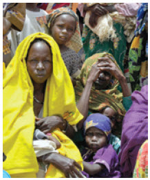 Sudanese refugees at Iridimi Camp in Chad.