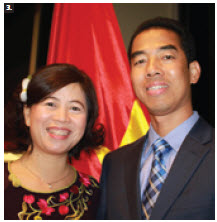 Vietnamese Ambassador Anh Dung To and his wife, Phi Nga Tran, hosted a national day reception. (Photo: Ulle Baum)
