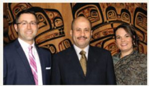 Greg Brandt, Erin Filiter's husband; Saudi Arabia Ambassador Naif Bin Bandir Alsudairy; Erin Filliter, ASF Dinner Committee