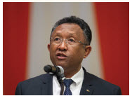 #64 Madagascar The long-running political crisis in Madagascar came to an end when Hery Rajaonarimampianina, pictured here, was elected president in 2014. This democratic transition boosted the country's rating by 17 places. Some subjects, however, remain taboo for journalists.