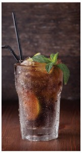 The Cuba Libre is a highball made of cola, lime and dark or light rum.