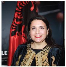Albanian Ambassador Elida Petoshati hosted a national day celebration Nov. 25 at Ottawa City Hall. (Photo: Ülle Baum)