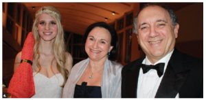 Italian Ambassador Gian Lorenzo Cornado and his wife, Martine Laidin, were greeted at the Snowflake Ball by Brigitte Lalonde from Models International Management, left. (Photo: Ülle Baum)