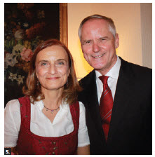 To mark the national day of Austria, Ambassador Arno Riedel and his wife, Loretta Loria-Riedel hosted a reception at their residence. (Photo: Ülle Baum)
