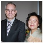 Japanese Ambassador Norihiro Okuda and his wife, Keiko, hosted a reception at the Westin Hotel to celebrate the birthday of the Emperor of Japan. Mrs. Okuda is shown with Trade Minister Ed Fast. (Photo: Ülle Baum)