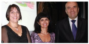 From left, Ralitsa Tcholakova, vice-president of the Ottawa Region Bulgarian Foundation; Nevena Nikolaeva Mandadjieva and Bulgarian Ambassador Nikolay Milkov at the opening of the Days of Bulgarian Culture and Art show at Ottawa City Hall on Oct. 14. (Photo: Ülle Baum)