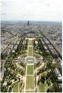A view of the Champs de Mars, taken from the Tour Eiffel in Paris, France.  (Photo: Matt Girling)