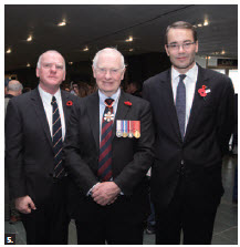 The centenary of ANZAC Day took place at the War Museum. From left, Australian Deputy High Commissioner Adrian Morrison, Gov. Gen. David Johnston and New Zealand High Commissioner Simon Tucker. (Photo: Sam Garcia)