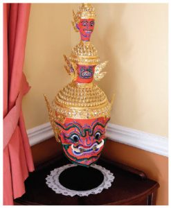 The home is full of Thai treasures such as this Khon mask. (Photo: Dyanne Wilson)