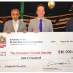 Two large donations from UAE's embassy in Canada