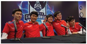 Korean students take part in the League of Legends world championships.