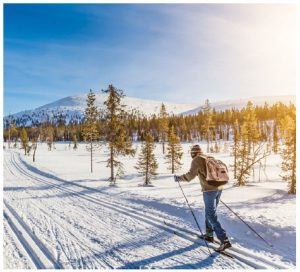 Norwegians are avid cross-country skiers.