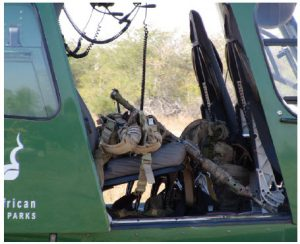 Rangers have to be well armed to protect themselves against wildlife and poachers.