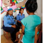 UN officials in Timor-Leste conduct an interview with a domestic abuse victim.