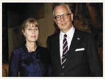 Elín Jónsdóttir and her husband, Icelandic Ambassador Sturla Sigurjónsson.  (Photo: Lois Siegel)
