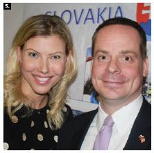 Slovak Ambassador Andrej Droba and his wife, Daniela Drobova, hosted a Taste of Slovakia event at their embassy. (Photo: Ülle Baum)