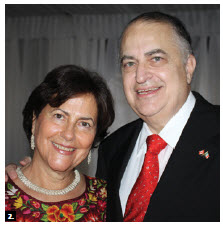 To mark the 205th anniversary of Mexico's independence, Ambassador Francisco Suarez Davila and his wife, Diana Mogollon de Suarez, hosted a reception at the NAC's rooftop terrace. (Photo: Ülle Baum)