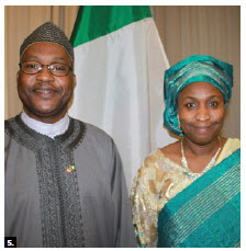 Ja'afar M. Balarabe, minister and chargé d'affaires of the Nigerian High Commission, and his wife, Nafisah Balarabe, hosted a national day reception at the Château Laurier. (Photo: Ülle Baum)