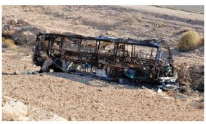Seven people were killed and 40 injured in this attack against Israeli civilians on their way to Eilat, a popular tourist destination. Battles between Israelis and Palestinians continue. (Photo: Ariel Hermoni)