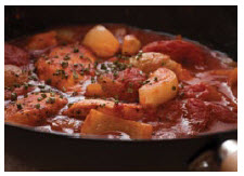 Tomato bredie is a traditional South African dish, named for its principal vegetable ingredient. (Photo: Tibor Kelemen)
