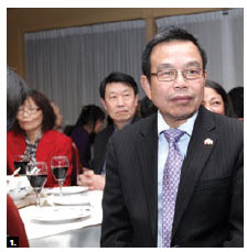 Rong-chuan Wu, representative of the Taipei Economic and Cultural Office, was fêted at the Mandarin Ogilvie restaurant by the Ottawa Chinese community. (Photo:  Sam Garcia)