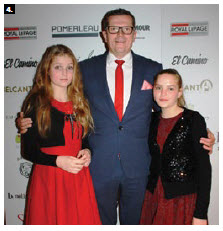 Polish Ambassador Marcin Bosacki attended the Valentine Gala with his two daughters, Maria, left and Zofia. (Photo: Ülle Baum)
