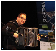 The embassy of Slovenia hosted a concert at the University of Ottawa's Academic Hall, featuring Slovenian  accordion player Denis Novato. (Photo: Ülle Baum)