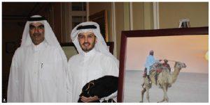 Qatari Ambassador Fahad Mohamed Y. Kafoud, left, shown with second secretary Mirdef Al-Qashouti, hosted a national day reception at the Fairmont Château Laurier. (Photo: Ülle Baum)