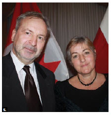 Latvian Ambassador Juris Audarins and his wife, Aija Audarina, hosted a national day reception at the Fairmont Château Laurier. (Photo: Ülle Baum)