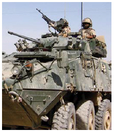 Saudi Arabia and the Canadian Commercial Corporation have negotiated a planned sale of General Dynamics' light-armoured vehicles. (Photo: combat camera)
