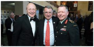 More than 200 government officials, business leaders, military personnel, students and diplomats, including, from left, U.S. Ambassador Bruce Heyman, French Ambassador Nicholas Chapuis and Canadian Gen. Jonathan Vance, chief of the defence staff, attended the sixth annual Vimy Reception at the Embassy of France. (Photo: Sam Garcia)
