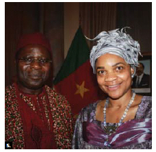 To mark Cameroon's national day, High Commissioner Solomon Azoh-Mbi and his wife, Mercy, hosted a reception at the Château Laurier.