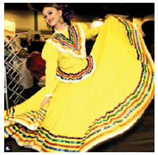 Maria Michelle Palomino, of Mexico, danced at the Travel and Vacation Show. (Photo: Lois Siegel)