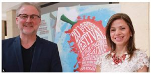 The Latin American Film Festival Media Launch took place at the Embassy of Cuba. From left: Tom McSorley, executive director of the Canadian Film Institute, and Honduran Ambassador Sofia Cerrato Rodriguez. (Photo: Ülle Baum)