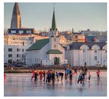 Children skating on the pond in central Reykjavik. (Photo: Ragnar Th. Sigurdsson)