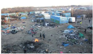 """Much of the support behind Brexit was driven by the desire to stem the flow of refugees from Calais, shown here in what's called the """"Calais jungle."""" (Photo: malachy browne)"""