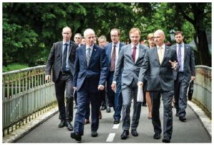 Stephane Dion visited Latvia in July. Meetings focused on Canada's commitment that it will lead a robust multinational NATO battlegroup in Latvia. (Photo: Global Affairs Canada)