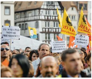 """Protesters in France call for the resignation of Turkish President Recep Tayyip Erdoğan who has, according to writer David Kilgour, created an """"intolerant and corrupt dictatorship."""" (Photo: © Ifeelstock 