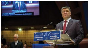 Ukrainian President Petro Poroschenko recently compared Moscow's aggression in Ukraine to what it's doing in Aleppo, Syria. (Photo: © Claude Truong-Ngoc)