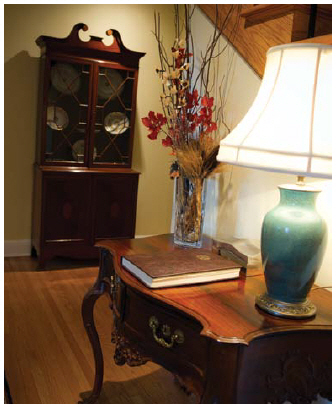 A guest book in the front foyer helps the diplomatic couple keep track of their many visitors. (Photo: Ashley Fraser)