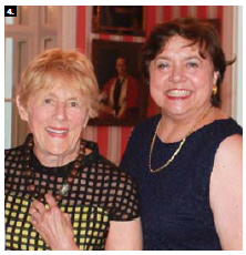 """Sharon Johnston, wife of Gov. Gen. David Johnston, hosted the presentation of HIPPY Canada's """"Because Mothers Matter Awards"""" at Rideau Hall. She's shown here with Eleonore Wnendt-Juber, of Germany, right. (Photo: Ülle Baum)"""