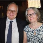 Finnish Ambassador Charles Murto, and his wife, Ritva, are shown at the same reception. (Photo: Ülle Baum)